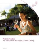 Pest Management for Outdoor and Mobile Catering