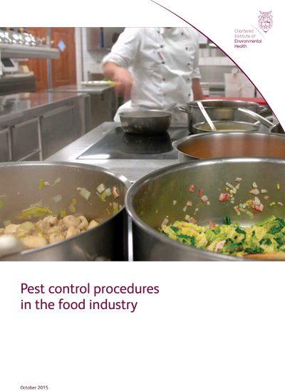 Pest control procedures in the food industry