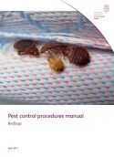 Pest control procedures manual: Bedbugs