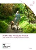 Pest control procedures manual: Ticks - Ixodes ricinus and Rhipicephalus sanguineus